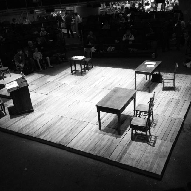 Courtroom set
