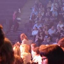 Hello! somehting is starting to happen - those people are on the other side of the arena and look vaguely distinct